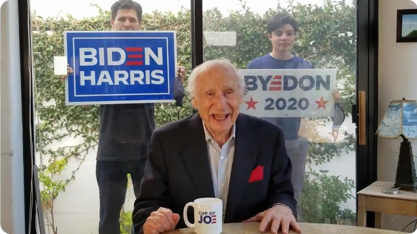Mel Brooks, 94, makes first political video to endorse Joe Biden