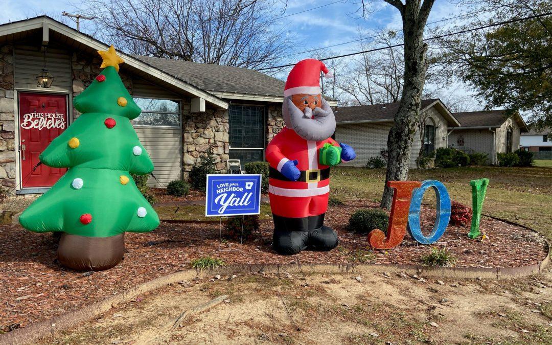 Arkansas Man Put Inflatable Black Santa In Yard & Immediately Received Racist Note