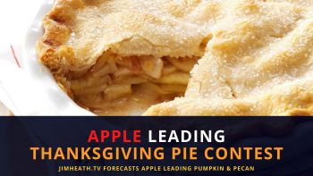 Apple Leading JimHeath.TV Thanksgiving Pie Poll – But CRANBERRY Winning On Instagram