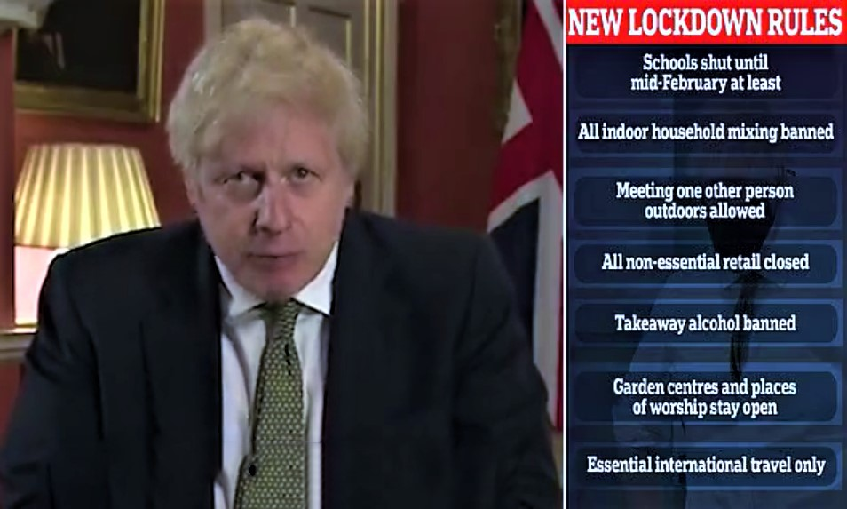 Boris Johnson Orders Lock Down Of England As Coronavirus Rages Across UK