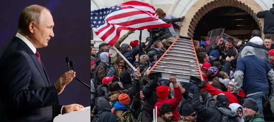 Thug Putin Sides With Trump & Capitol Rioters – 'These People Came With Political Requests'