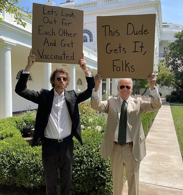 Biden Invites 'Dude With Sign' To White House In Vaccination Push