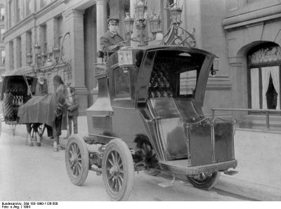 An Early Electric Taxi