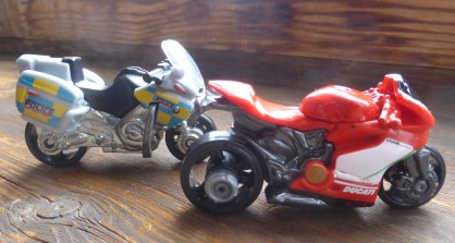 BMW R1200 RT-8 Police bike and Ducati 1199 Panigale