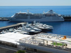 The Silver Wind seen from ahigh in Monte Carlo.