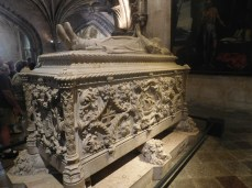 The tomb of Vasco da Gama.