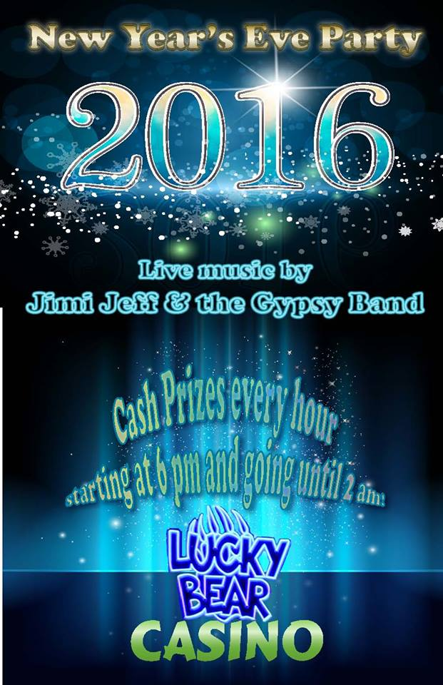 New Year's Eve at Lucky Bear Casino with Jimi Jeff & The Gypsy Band