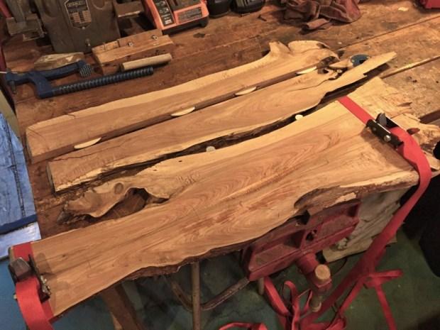 Cedar Planks - Glue Up