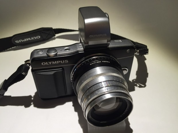 Olympus E-PM2 with Jupiter 8 lens