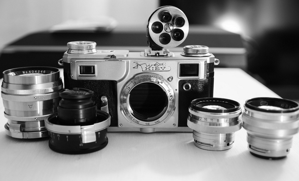 Kiev 4a and lenses