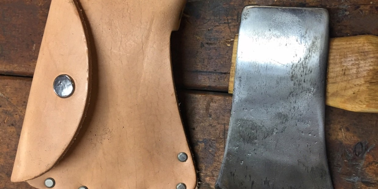 photo of Camper's Axe with Rawhide Cover
