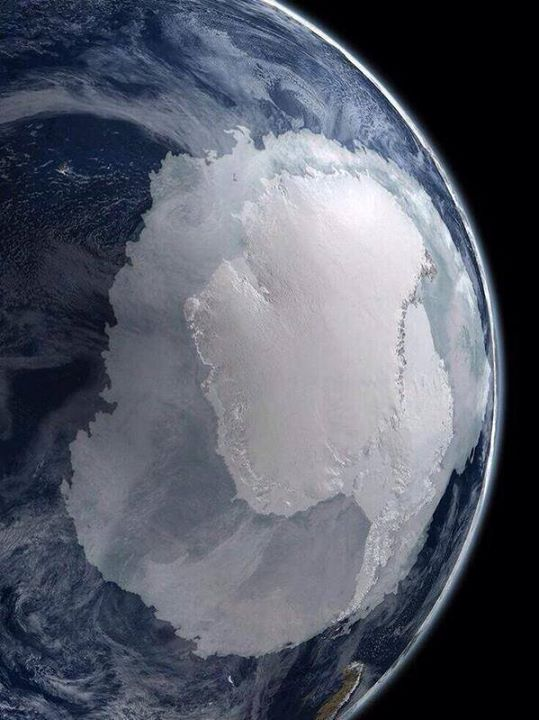 Antarctica in early spring (NASA photo)