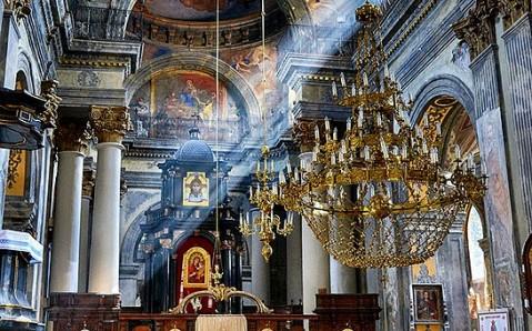 interior of Carmelite Church Lviv Ukraine