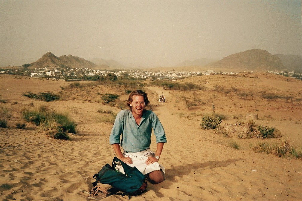 Jim McCarthy in Rajasthan, India, in 1987.