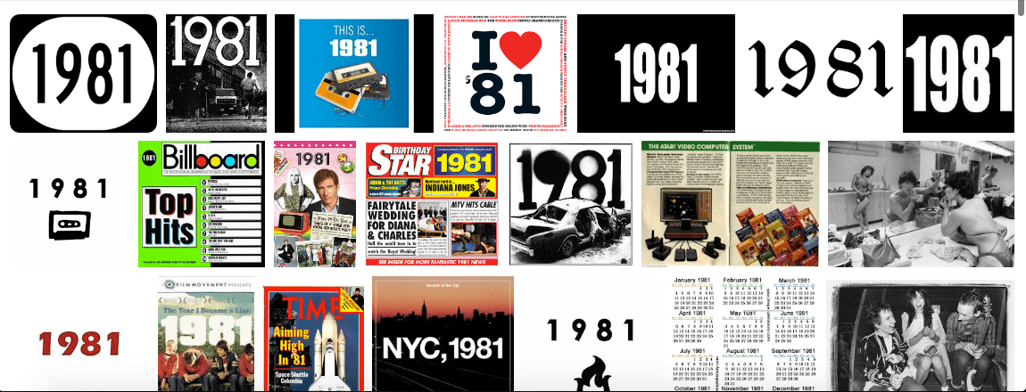 1981 (Google Image search results)