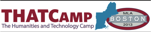 Web Logo for THATCamp 2013 (in collaboration with MLA Boston)