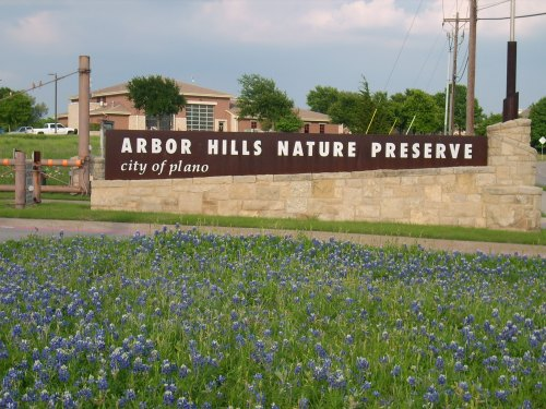 Arbor Hills Nature Preserve Entrance