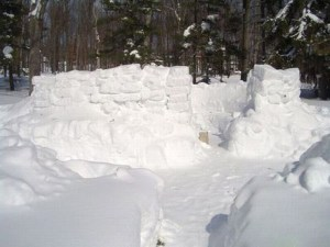 Snow Fort in New Hampshire