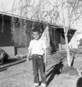 Me in 1960 at 2420 Navajo, Luke AFB, AZ