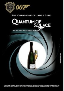 "Le champagne dans ""Quantum of solace : James Bond"""