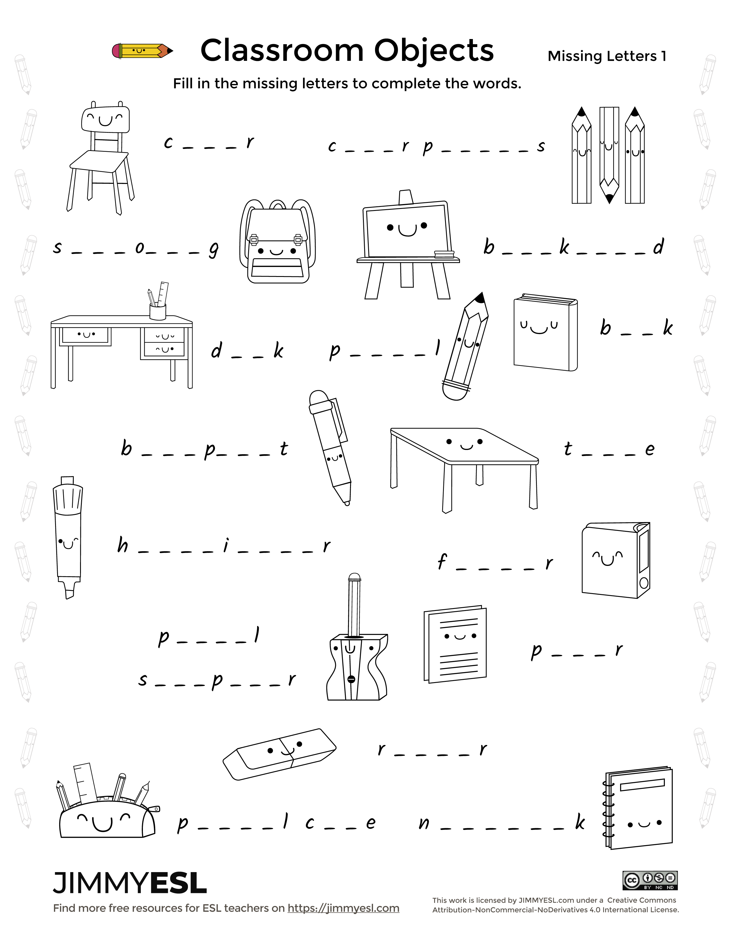 Classroom Activities Worksheet