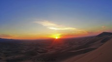 Sunset at the Gobi Desert