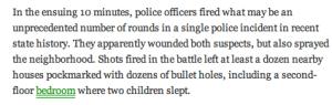 BULLET HOLES IN CHILDREN'S ROOM