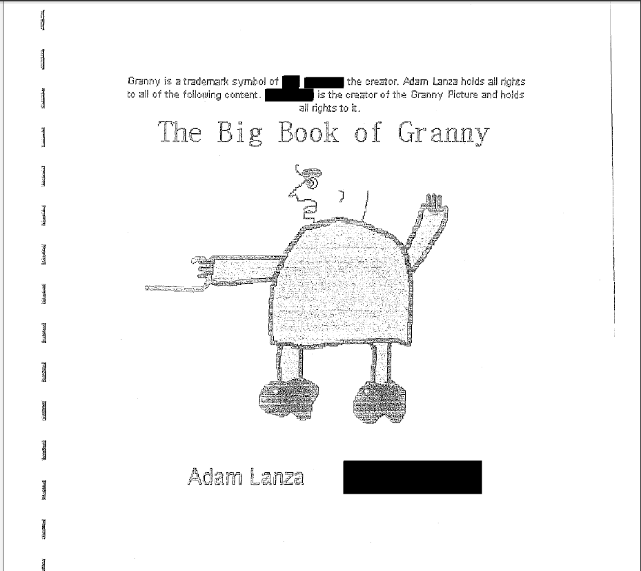 Adam Lanza's Book of Granny: Wtf?