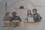 Meng courtroom sketch