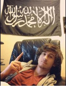 Jahar with the flag