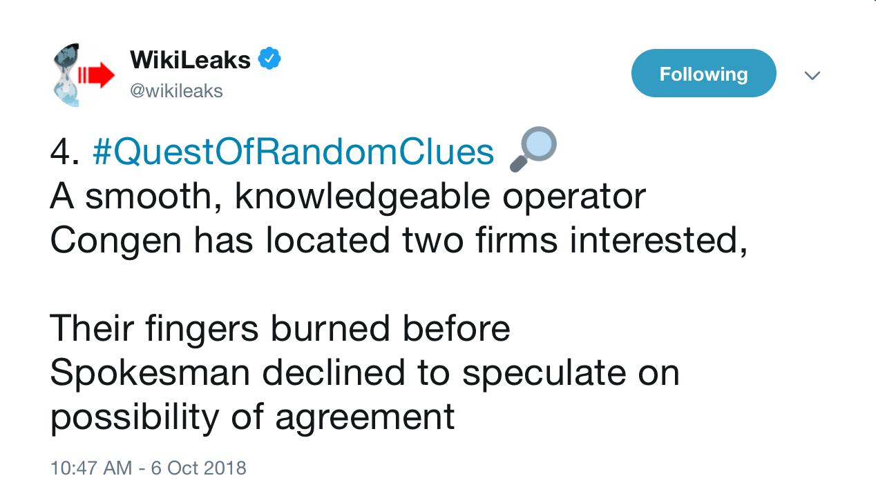 WikiLeaks' Quest of Random Clues FULL UPDATE – LLAMA