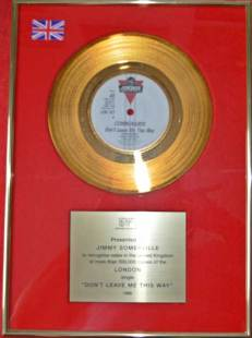 BPI Sales Award The Communards Dont Leave Me This Way Disk