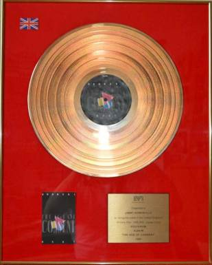 BPI Sales Award Bronski Beat The Age Of Concent Disk