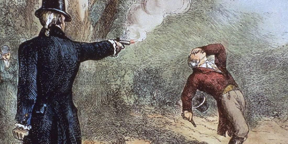 Arguing - Alexander Hamilton Pistol Duel
