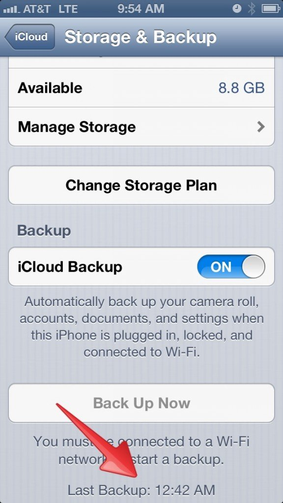 Check your iOS backup