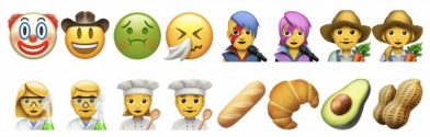 A sampling of the new emoji available in iOS 10.2 and macOS 10.12.2