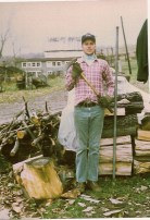 Stretch woodpile Holland NY 1979