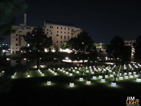the Field of Empty Chairs from the Murrah Plaza