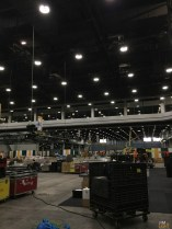 Waiting for freight! WOW, these LED fixtures are DIM! We learned they were on 1%.