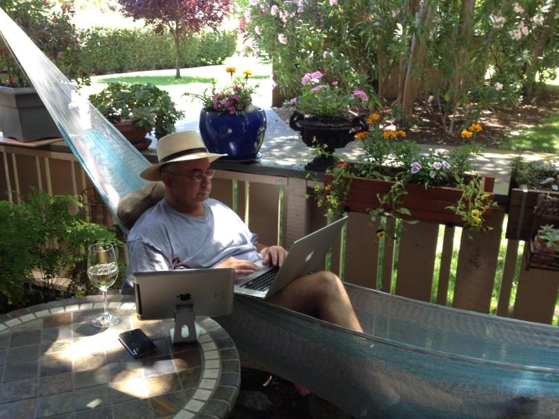 Jim in hammock