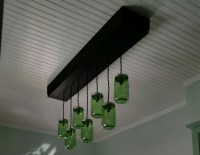 Custom Wood Box Ceiling Light