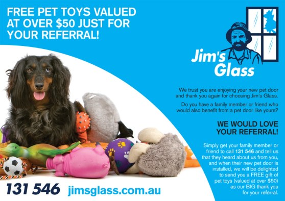 14 Jim's Glass is giving away Pet Toys!