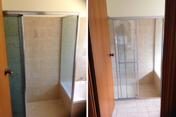 2 Replace your old wired shower screen with something more contemporary