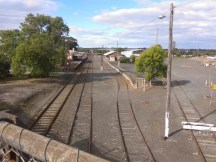 Colac Station from footbridge