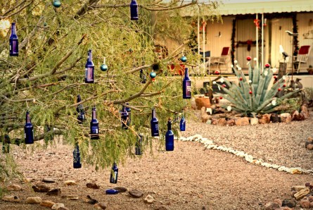 Christmas decorations in the desert