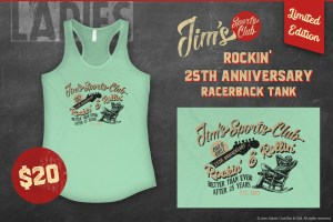 Jim's Rockin' 25th AnniversaryRacerback Tank
