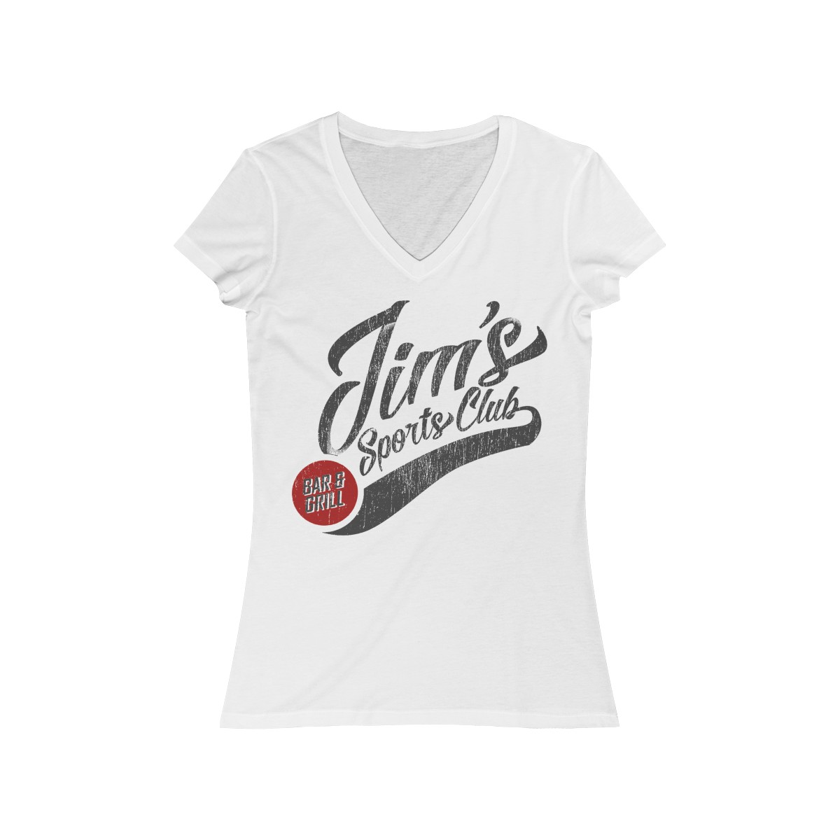 White Women's Jersey Short Sleeve V-Neck Tee