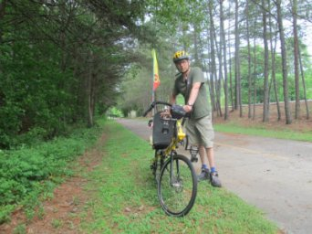 Jim-Schmid-with-Bacchetta-Giro-recumbent-on-Silver-Comet-Trail-GA-2015-5-11-to-14