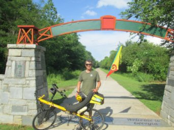 Jim-Schmid-with-Bacchetta-Giro-recumbent-start-of-Chief-Ladiga-Trail-AL-2015-06-01
