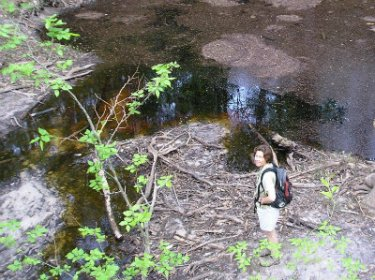 Sandra-Schmid-next-to-sink-at-Leon-Sinks-Geological-Area-Tallahassee-FL-2006
